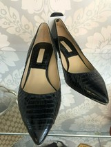 Michael Kors Collection Black Snakeskin Kitten Heel Pump Sz 38.5/8.5 $400 - $150.38