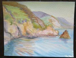 Small Painting To Watercolour Opera Of Painter G.Pancaldi landscape Mari... - $27.36