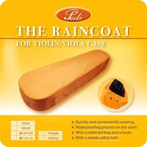 Taiwan Pedi The Waterfroof Raincoat for 4/4 - 3/4 Oblong Violin Case BROWN - $15.99