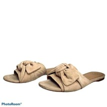 Tory Burch FLAWS Annabelle Suede Blush Bow Slides Mules Women's Size 7 - $44.55