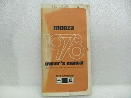 1978 MONZA Owners Manual 16082 - $18.76