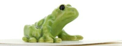 Hagen Renaker Miniature Frog Green Papa Ceramic Figurine Ceramic Figurine