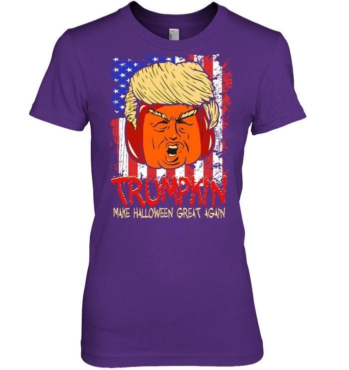 Funny Trumpkin Halloween Costume Men  Women Tshirt
