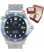 MINT Omega Seamaster Professional 300M Blue Red Wave Quartz 41mm Watch 2... - $2,293.22