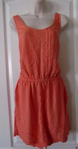 LC Lauren Conrad Coral Embroidered Romper Women's Size 8 NWT MSRP$54 SUP... - $27.39