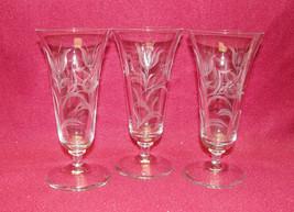 Set of Three (3) REIZART Crystal - TULIPTIME #520 - PARFAIT GLASSES - $28.95