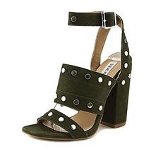 Steve Madden Jansen Ankle-Strap Dress Sandals, Olive, 6.5 US - $151.97