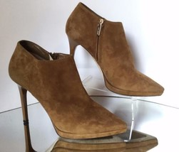 JIMMY CHOO Lindsey 100 Suede Point-Toe Ankle Boots (Size 39) - MSRP $975.00 - $399.95