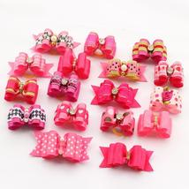Armi store 10 Pcs Handmade Dog Bow Grooming Bows For Puppy Dogs Accessor... - $9.95+