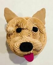 Fake Cupcake  Brown Yorkie Puppy Dog Cupcake- fake home decoration prop - $9.89
