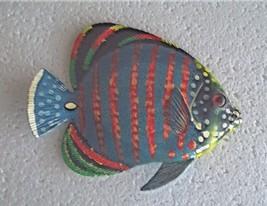Tropical Fish Wall Plaque Tiki Bar Beach Pool Nautical Decor Size 5.5 in... - $10.49