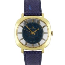 """Vintage Men's Bucherer Gold-Filled Blue """"Skeleton"""" Swiss Mechanical Dres... - $1,993.91"""