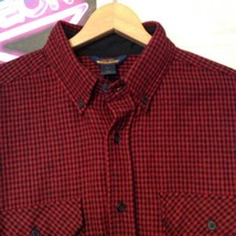NWT Woolrich Men's Technowool Red Plaid Button Front Long Sleeve Shirt S... - $44.50