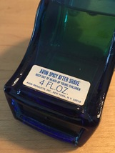 70s Avon Blue Whistle with silver ring after shave bottle (Spicy After Shave) image 4