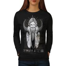 Girl Moon Daughter Skull Tee Hunt Girl Women Long Sleeve T-shirt - $14.99