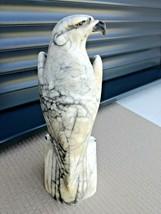 Antique eagle statue marble alabaster art deco nouveau bauhaus design mo... - $220.00