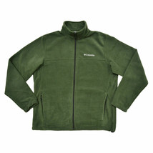 MENS COLUMBIA ROGUE BASIN EXS FLEECE FULL-ZIP WARM WINTER JACKET S OLIVE... - $42.06