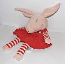 "Plush Olivia Pig Red Dress Zoobies Storytime Pals PJ Keeper Toy Only 19"" - $14.89"
