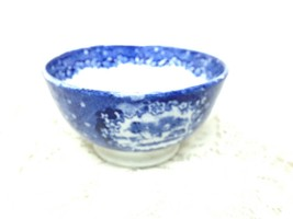 Antique, Rare, England Flow Blue Rice Bowl 2.5in T x 4.5in D - $18.91