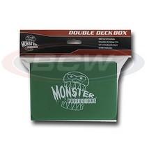 25x MONSTER PROTECTORS DOUBLE DECK BOX - Matte Green - Magnetic Lock - $141.69