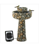 Solar Water Fountain Outdoor Wishing Well two  power options - $139.55