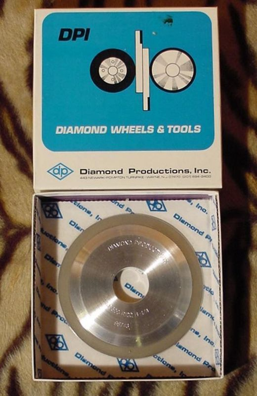 "Primary image for 5"" DIAMETER  PROFILE GRINDING DIAMOND WHEELS 500 GRIT 10 DEGREE NEW IN BOX!"