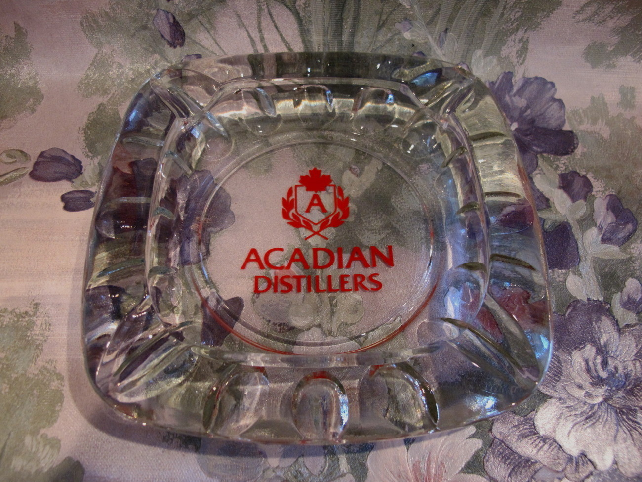 Primary image for Acadian Distillers Ashtray Vintage Souvenir Collector Bridgetown Nova Scotia