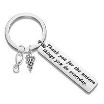 BAUNA Veterinary Key Chain Veterinarian Gift Thank You for The Unseen Th... - $14.31