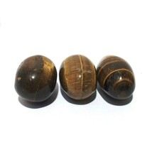 Tiger eye's Stone Shiva Lingam Crystal Therapy Sacred India Pious Vedas... - $8.00