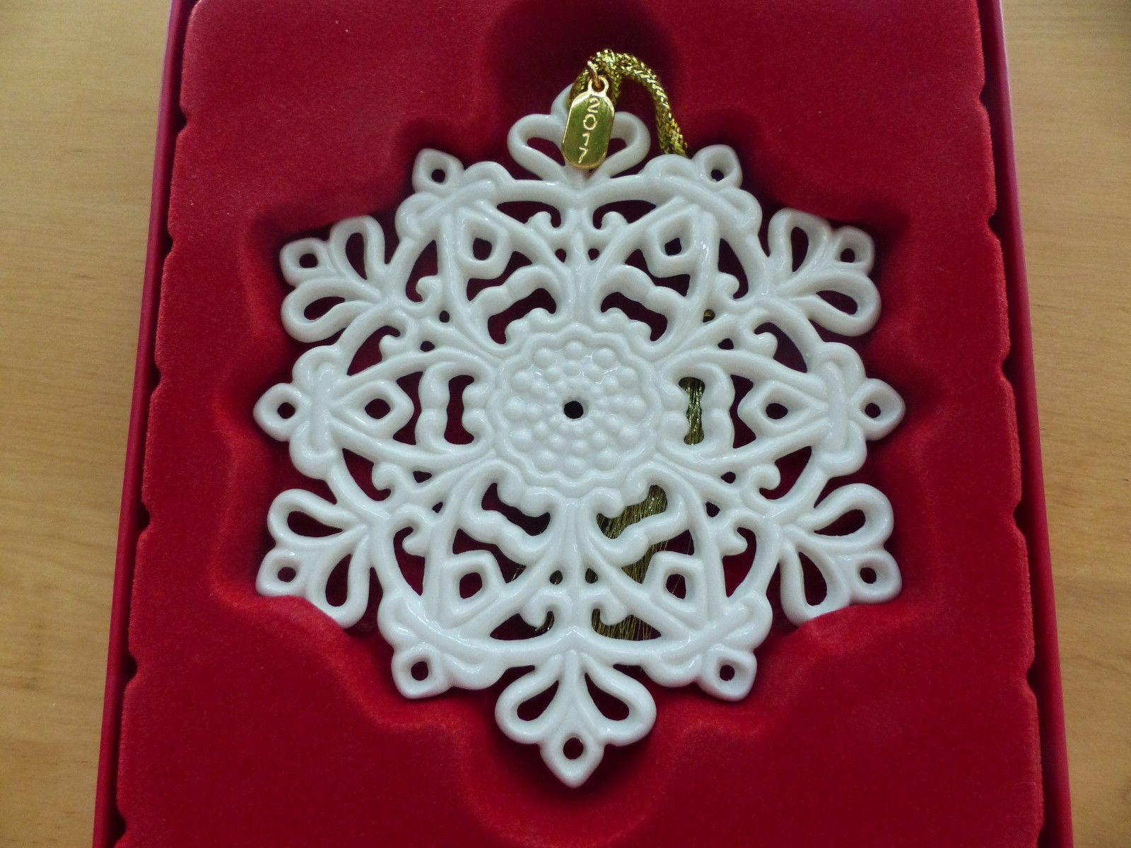 Lenox 2017 Snowflake Ornament Snow Fantasies Annual Christmas Porcelain NEW