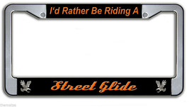 I'D RATHER BE RIDING A STREET GLIDE HARLEY DAVIDSON METAL LICENSE PLATE ... - $27.07