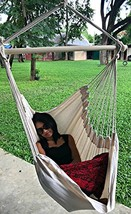 Large Brazilian Hammock Chair by Hammock Sky - Quality Cotton Weave (Nat... - $64.93