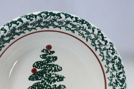 "Furio Xmas Tree Soup Bowls 8.125"" Lot of 4 Made in Italy image 3"