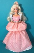 Barbie Peach Pretty Blonde Curly Hair Doll Original Dress Vintage 1989 O... - $13.95