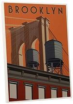"Pingo World 0205Q5UQ7MY ""Steve Thomas Brooklyn"" Gallery Wrapped Canvas Art, 16""  - $48.46"