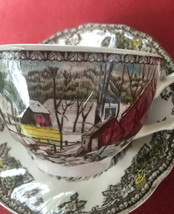 "Johnson Brother's ""Friendly Village""  cups and saucers - $11.00"