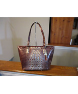 Authentic Brahmin Medium Asher Port Ombre Melbourne Embossed Leather New... - $217.79