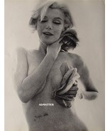 """Marilyn Monroe 2-Sided 9X12 Sexy Pin-up Poster  VERY RARE """"ROSES"""" Photo! - $11.93"""
