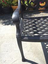 11 piece outdoor patio dining set Nassau cast aluminum 46 x 120 table Sunbrella image 8
