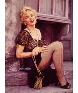 Marilyn Monroe Vintage 2-sided Pinup Fire Hot Photo Sexy Black Fishnet S... - $12.99