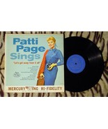 PATTI PAGE SINGS LETS GET AWAY FROM IT ALL MONO NRMT VINYL  MGW-12250 - $9.29