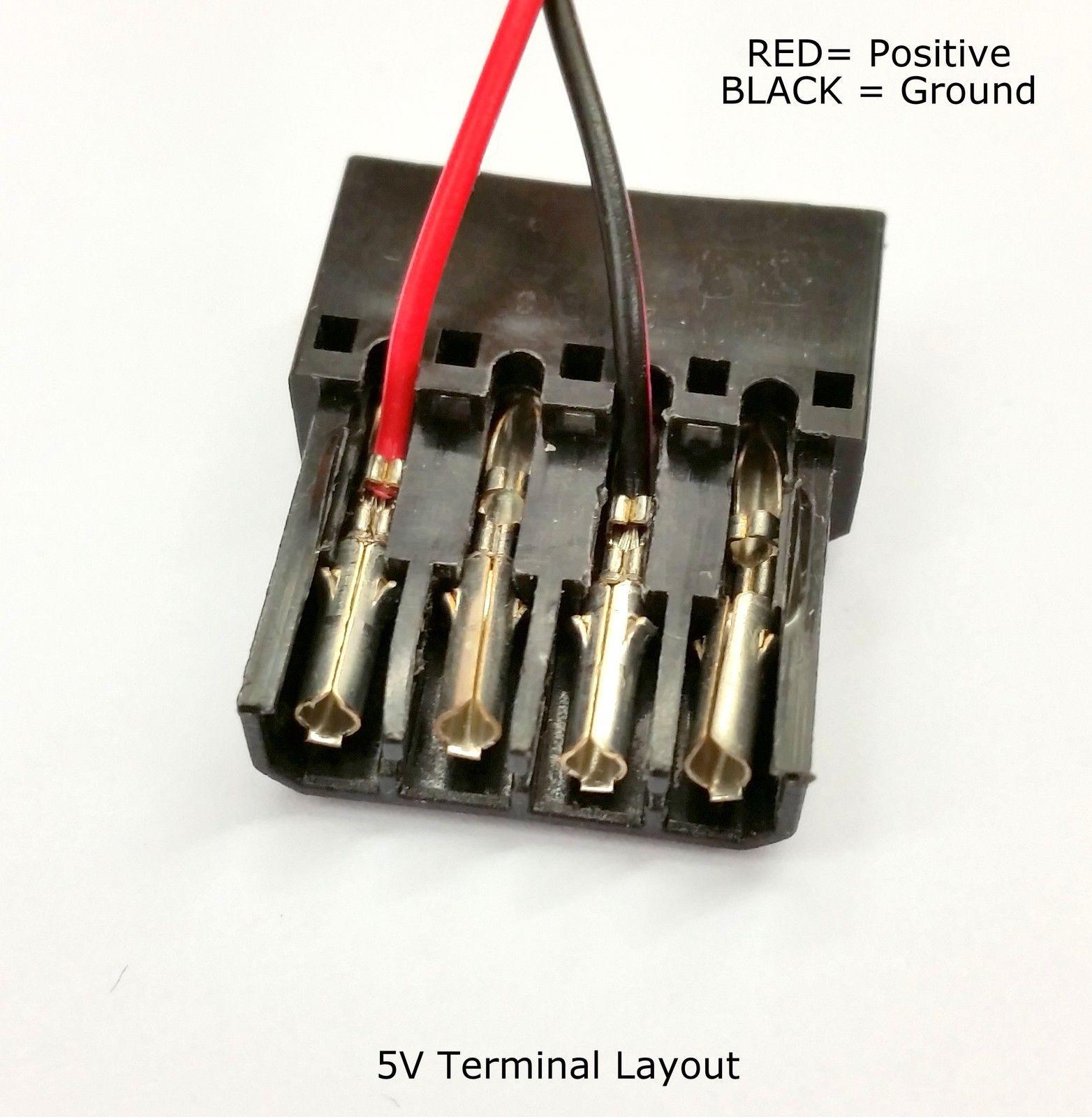 2er Pack - 4-polig Molex PC PSU Stromanschluss Durchgang Stecker / female-black