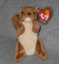 BEST OFFER Nuts the Squirrel Born Jan 21, 1996 TY BEANIE BABY RETIRED  - $14.99