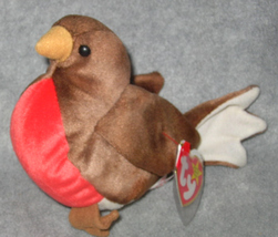 TY BEST OFFER EARLY Red Breasted Robin TY BEANIE BABY  - $9.99