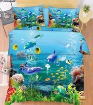 3D Ocean World 1 Bed Pillowcases Quilt Duvet Cover Set Single Queen King Size AU - $90.04+
