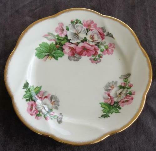 Primary image for Vintage Salisbury Bone China Salad Plate - VGC - England - BEAUTIFUL FLORAL
