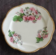 Vintage Salisbury Bone China Salad Plate - VGC - England - BEAUTIFUL FLORAL - $24.74