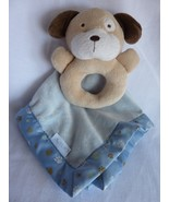 Carter's Puppy Dog Paw print Rattle Lovey blanket security toy minky satin - $24.45