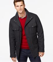 Michael Kors Men's Dark Gray Big & Tall Wool-Blend Field Coat, Size 4XB - $136.13