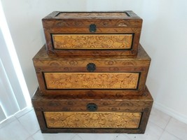 HANDMADE JAPANESE KIRI WOOD STORAGE BOXES BOUGHT IN JAPAN AND SHIPPED TO... - $949.05